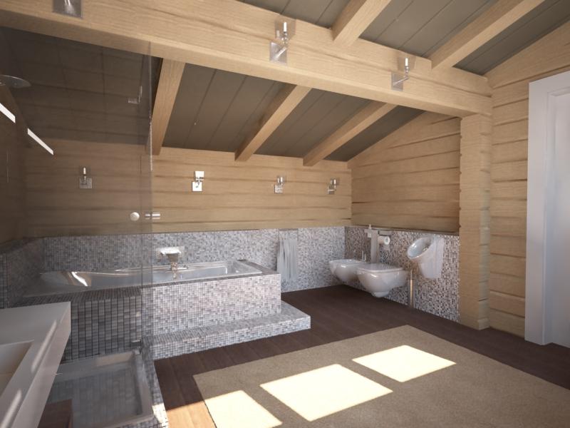 Дизайн деревянных домов из бруса внутри